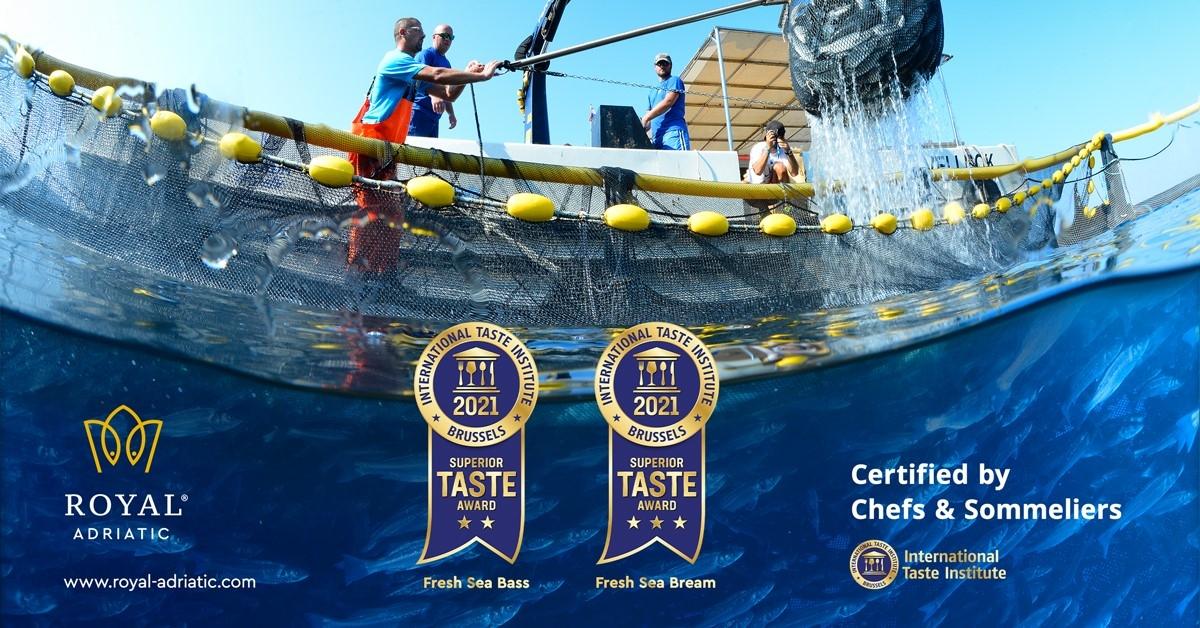 I prodotti Royal Adriatic hanno ricevuto il pregiato riconoscimento mondiale per la qualita' Superior Taste Aword